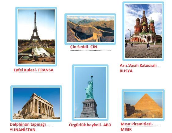 ülkelerin simgesel yapıları