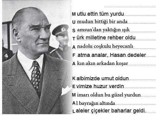 Mustafa Kemal akrostiş şiiri