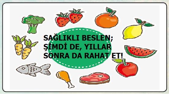 sağlıklı beslenme afiş