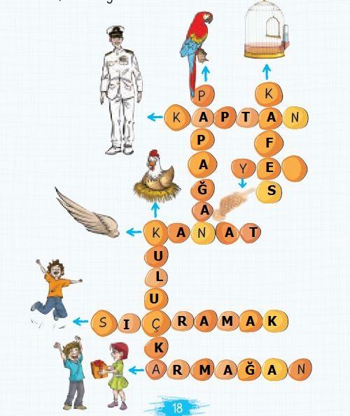 2. Sınıf Türkçe Ders Kitabı 18. Sayfa Cevabı