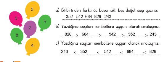 3. Sınıf Matematik Ders Kitabı 28. Sayfa Cevapları MEB