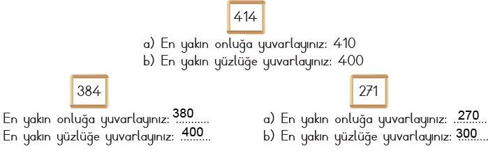 3. Sınıf Matematik Ders Kitabı 25. Sayfa Cevapları MEB