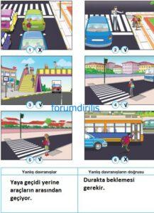 4. Sınıf Trafik Güvenliği Ders Kitabı Sayfa 25