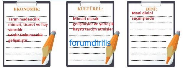 6. Sınıf MEB Yayınları Sosyal Bilgiler 63. Sayfa Cevapları