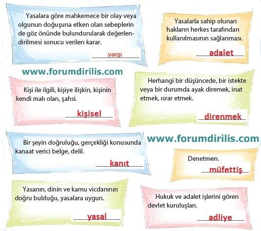 4. Sınıf Türkçe Ders Kitabı Koza Yayınları 63. Sayfa