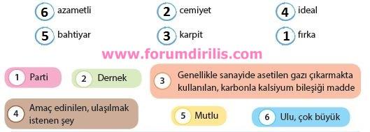 4. Sınıf Türkçe Ders Kitabı Koza Yayınları 68. Sayfa Cevapları