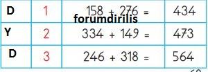 3. Sınıf Matematik Ders Kitabı 68. Sayfa Cevapları MEB
