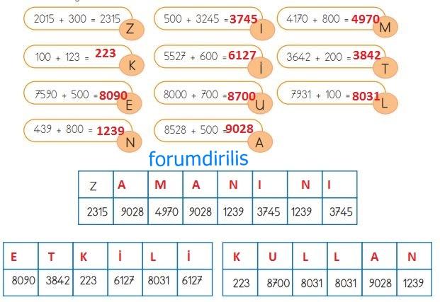 4. Sınıf Matematik Ders Kitabı 59. Sayfa