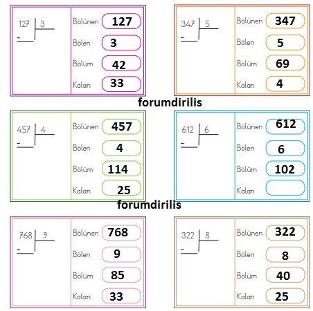 4. Sınıf Matematik Ders Kitabı 103. Sayfa Cevapları MEB Yayınları