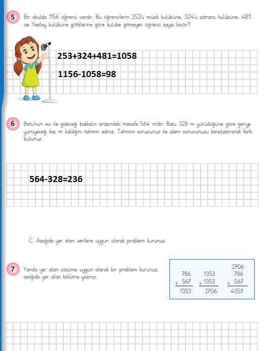 4. Sınıf Matematik Ders Kitabı 76. Sayfa Cevapları MEB Yayınları