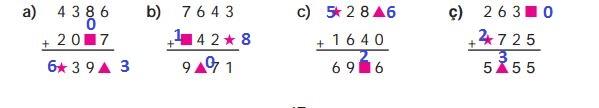 4. Sınıf Ata Yayınları Matematik 47. Sayfa Cevapları