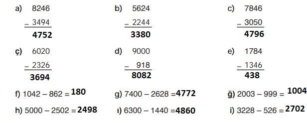 4. Sınıf Ata Yayınları Matematik 48. Sayfa Cevapları