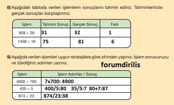 5. Sınıf Matematik Ders Kitabı 71. Sayfa Cevapları