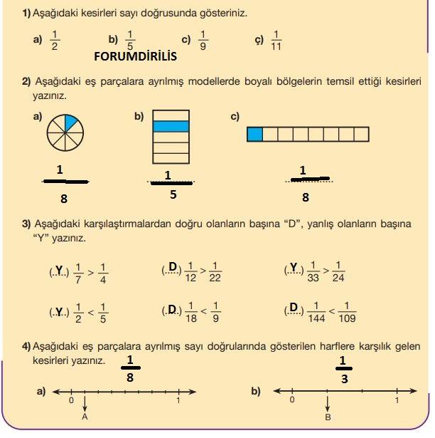 5. Sınıf Matematik Ders Kitabı 89. Sayfa Cevapları