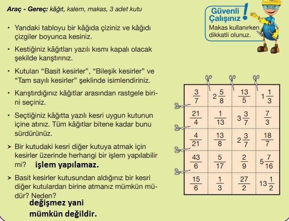 5. Sınıf Matematik Ders Kitabı 90. Sayfa Cevapları MEB