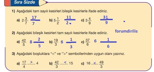 5. Sınıf Matematik Ders Kitabı 94. Sayfa Cevapları MEB