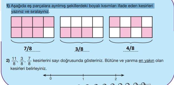 5. Sınıf Matematik Ders Kitabı 95. Sayfa Cevapları MEB