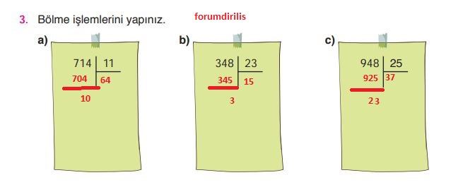 4. Sınıf Ata Yayınları Matematik 99. Sayfa Cevapları