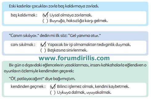 6. Sınıf Türkçe Ders Kitabı Ekoyay Yayınları 86. Sayfa Cevapları