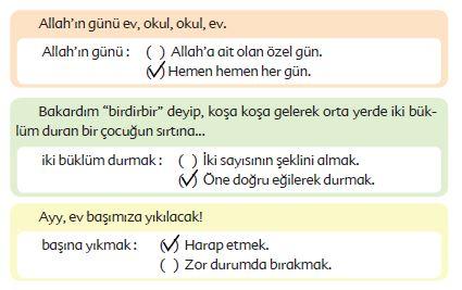 6. Sınıf Türkçe Ders Kitabı Ekoyay Yayınları 85. Sayfa Cevapları