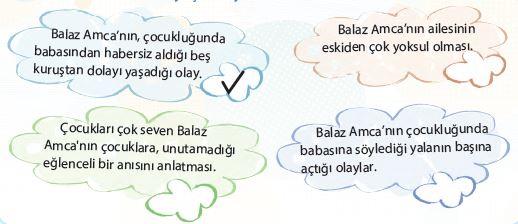 4. Sınıf Türkçe Ders Kitabı Koza Yayınları 98. Sayfa Cevapları