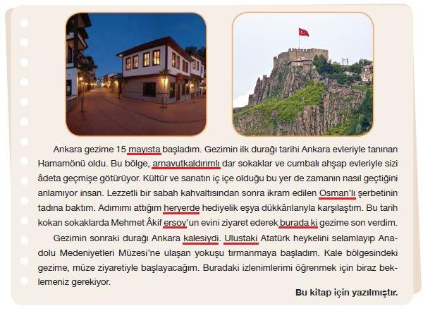 7. Sınıf Türkçe Ders Kitabı Özgün Yayınları 120. Sayfa Cevapları
