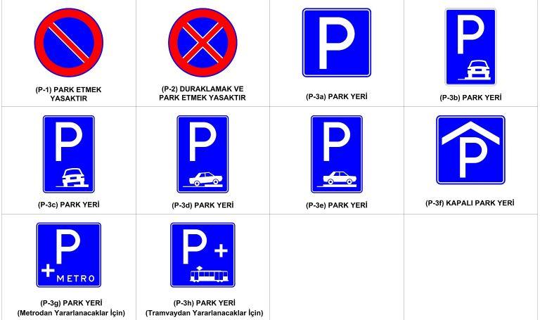 Trafik Durma ve Park etme İşaretleri