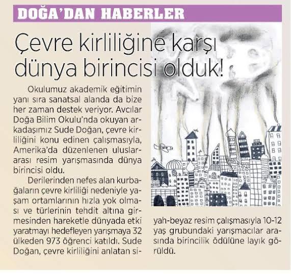 Çevre kirliliğiyle ilgili gazete ve dergi haberleri