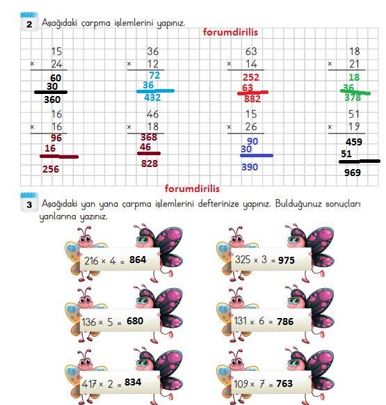 3. Sınıf Matematik Ders Kitabı 130. Sayfa Cevapları MEB