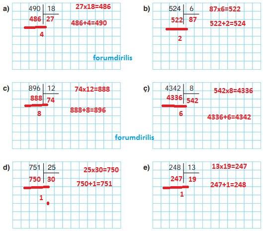 4. Sınıf Ata Yayınları Matematik 107. Sayfa Cevapları