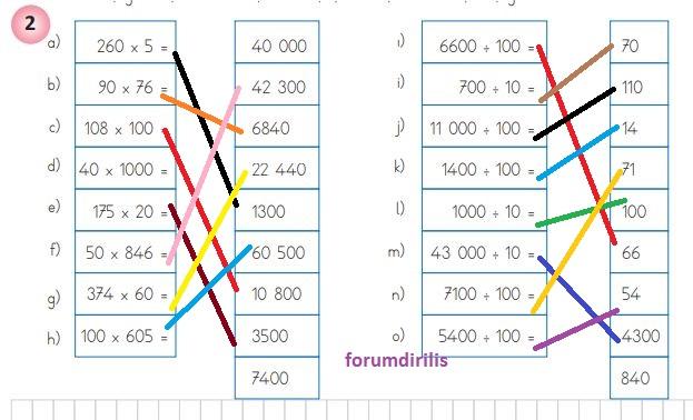 4. Sınıf Matematik Ders Kitabı 123. Sayfa Cevapları MEB Yayınları