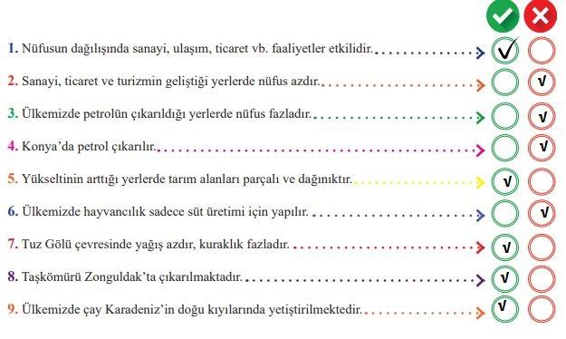 6. Sınıf MEB Yayınları Sosyal Bilgiler 124. Sayfa Cevapları