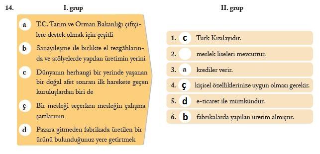 7. Sınıf Sosyal Bilgiler Ders Kitabı Ekoyay Yayınları 178. Sayfa