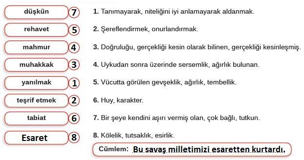 8. Sınıf Türkçe Ders Kitabı MEB Yayınları 152. Sayfa Cevapları