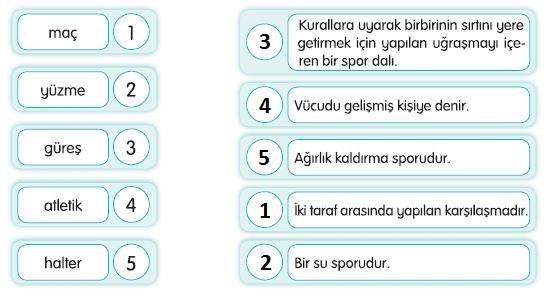 3. Sınıf Türkçe Ders Kitabı Sonuç Yayınları 170. Sayfa Cevapları
