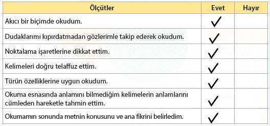 4. Sınıf Türkçe Ders Kitabı Koza Yayınları 206. Sayfa Cevapları