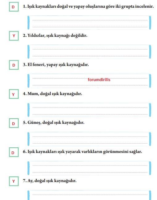 3. Sınıf Fen Bilimleri Tuna Yayınları Ders Kitabı Sayfa 118