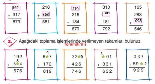 3. Sınıf Matematik Ders Kitabı 72. Sayfa Cevapları