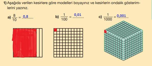 5. Sınıf Matematik Ders Kitabı 138. Sayfa Cevaplar