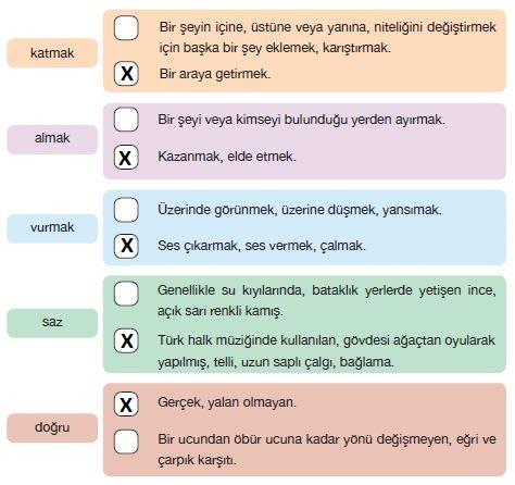 7. Sınıf Türkçe Ders Kitabı Özgün Yayınları 174. Sayfa Cevapları