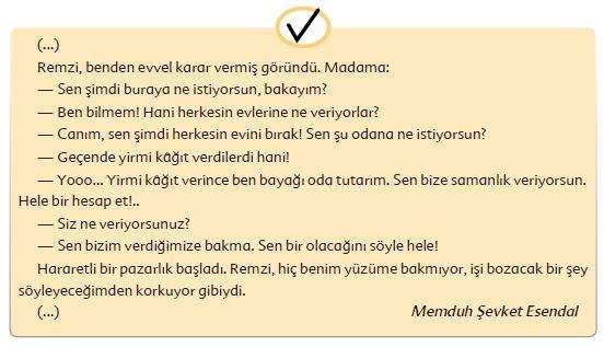 6. Sınıf Türkçe Ders Kitabı Ekoyay Yayınları 196. Sayfa