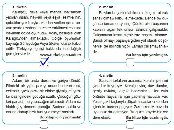 7. Sınıf Türkçe Ders Kitabı Özgün Yayınları 168. Sayfa