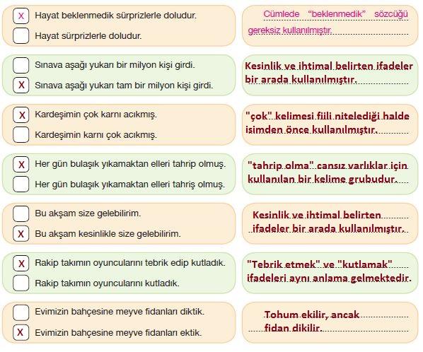 7. Sınıf Türkçe Ders Kitabı Özgün Yayınları 204. Sayfa Cevapları