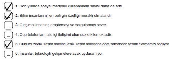 7. Sınıf Türkçe Ders Kitabı Özgün Yayınları 264. Sayfa