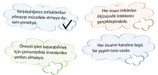 4. Sınıf Türkçe Ders Kitabı Koza Yayınları 236. Sayfa 4.etkinlik
