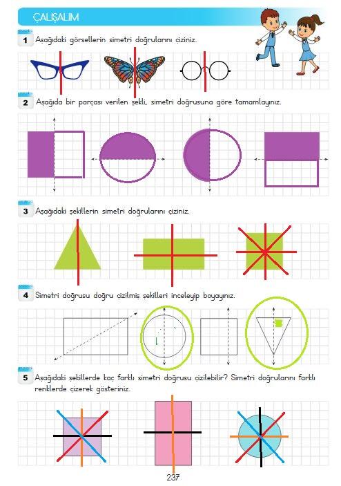 237.sayfa simetri cevapları