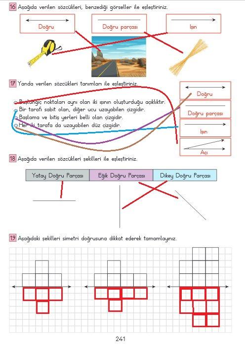 3.sınıf matematik 241.sayfa cevapları