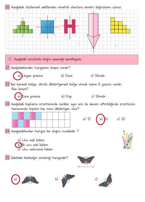 3.sınıf matematik 242.sayfa cevapları