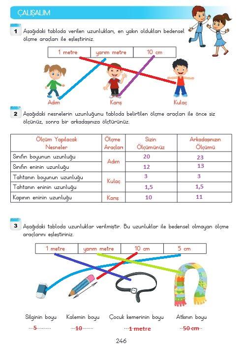 3.sınıf matematik 246.sayfa cevapları