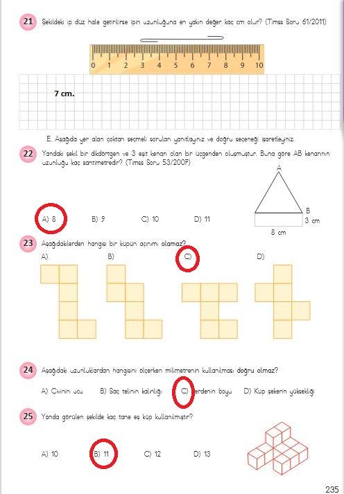 4.sınıf matematik 235.sayfa cevapları neb yayınları